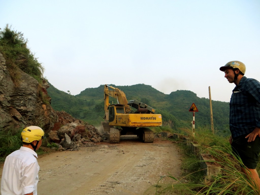 Travel Vietnam Cat Ba clearing roads
