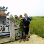 Travel Vietnam cemetary cow man 2