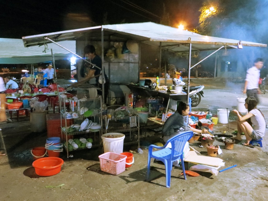 Makeshift market kitchen