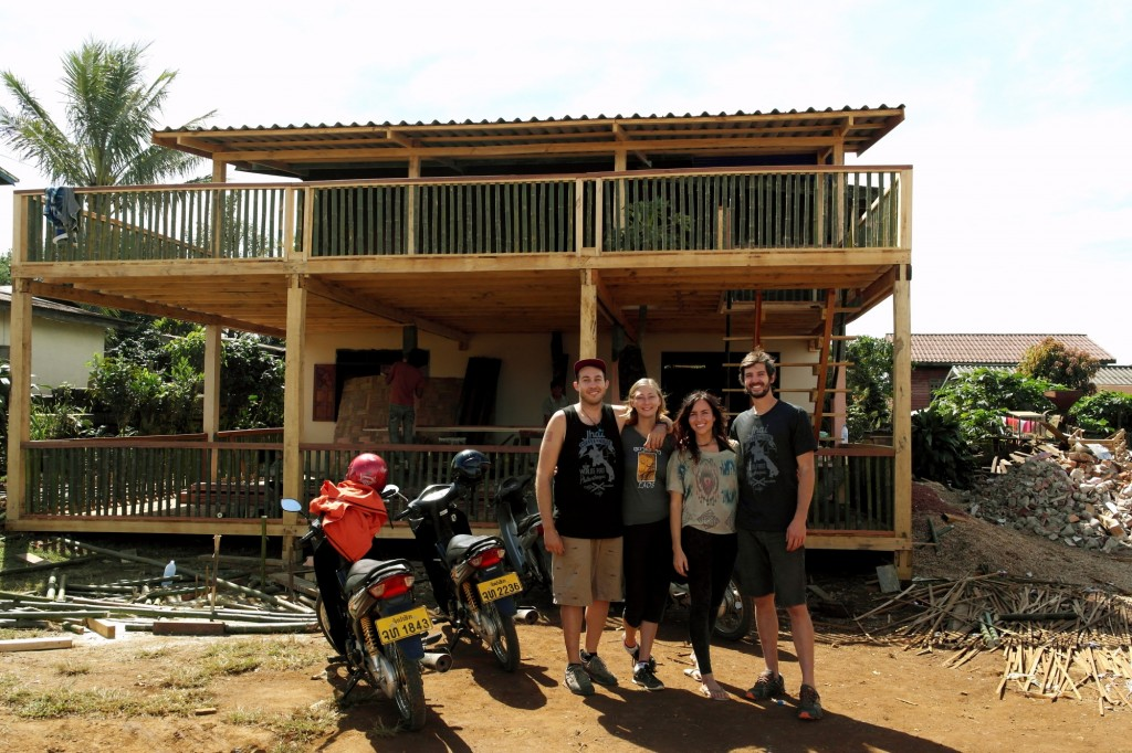 Us with Janelle & Tyson in front of soon-to-be Jhai Coffee House!