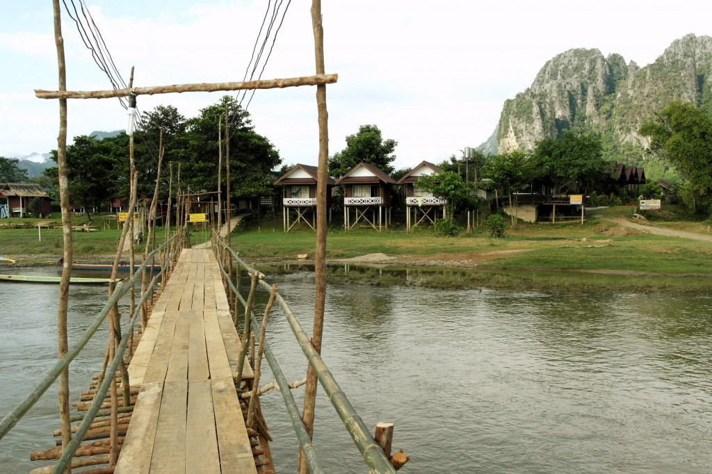 Beautful bamboo bridge