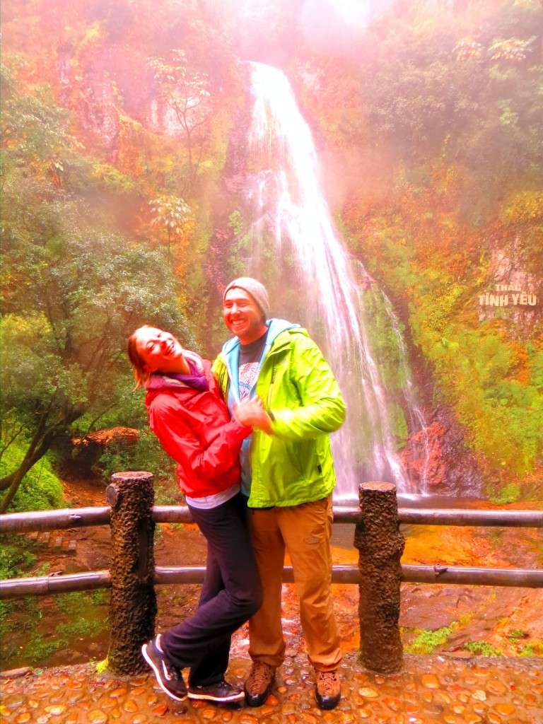 Travel VIetnam Waterfall laughing