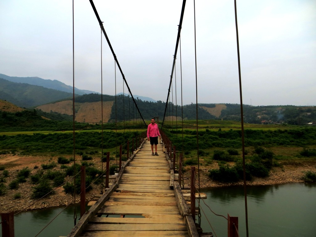 Travel Vietnam Dien Bien bridge lou